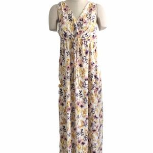 Old Navy Floral Print Maxi Maternity Dress Large